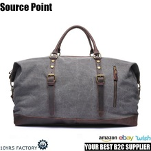 YD-2077 Wholesale Unisex Vintage Style Canvas Luggage Travel Duffle Duffel Overnight Holdall Weekend Bag for Traveling