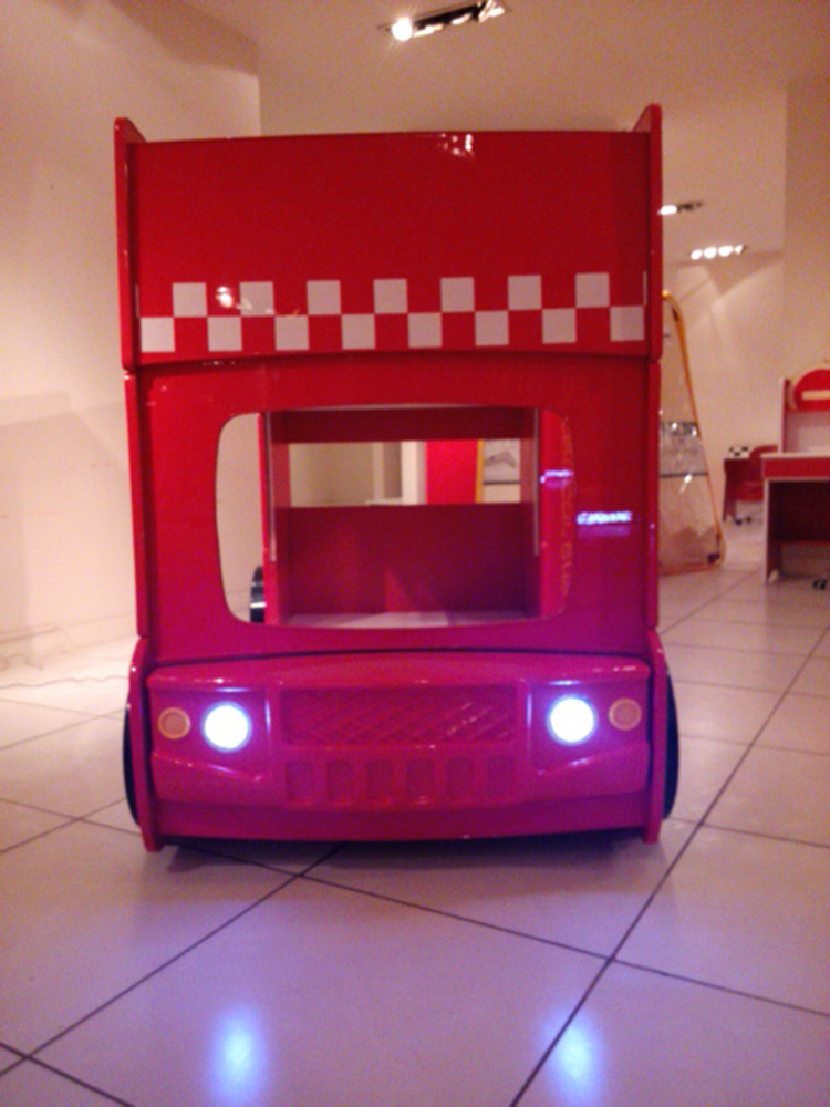 Children car bunk bed loft beds for kids beds for children for Loft car