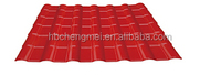 Non-flammable color fast energy saving ASA Synthetic corrugated roof tiles