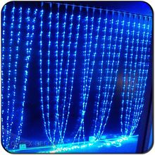 Blue Led Christmas Lights Snowfall Curtain Wedding Backdrop waterfall lights