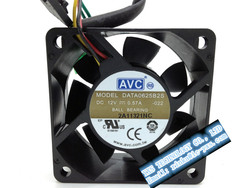 6025 12V 0.57A 6CM CPU cooling fan DATA0625B2S double ball bearing