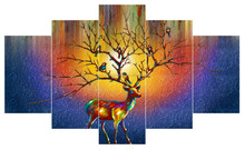 Wholesale abstract animal elk decorative oil painting on canvas