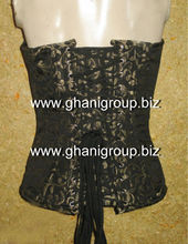 steel boned Brocade Fabric Corsets