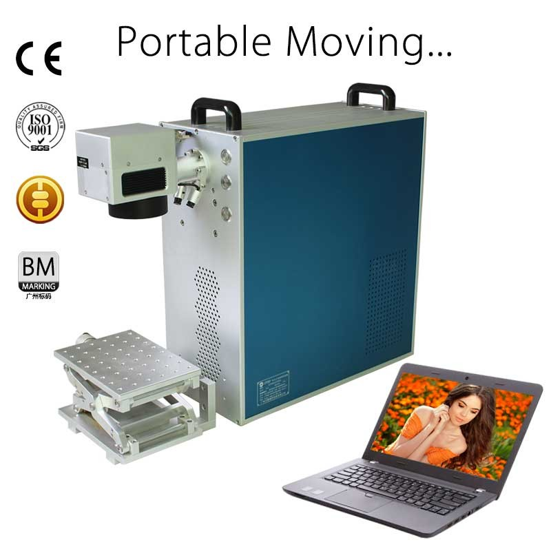 10W 20W Metal Portable Fiber Laser Marking Machine logo printing machines on pen