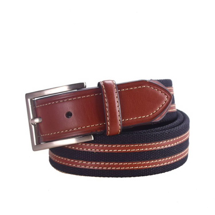 Special manufacture canvas webbing belt with pin buckle