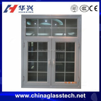 CE certificate tempered glass aluminum profile window grill design india