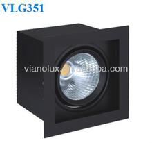 Recessed Anti-glare LED Grille Downlight,COB Celling Spot Light,Commercial Lighting Fixture