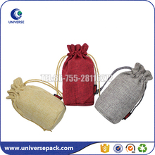 Good quality promotion jute gunny bag with drawstring for packing