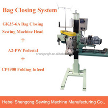 A2-PW+CP4900+GK35-6A High Speed Pedestal PP Woven Bag Closing System