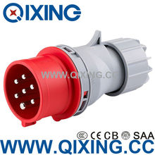 7 pole 7 pin 7p IP44 cable waterproof industry plug and socket