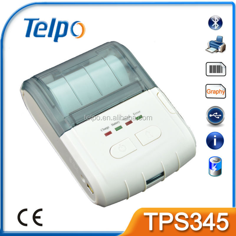 Telpo TPS345 wireless handheld android bill bluetooth printer