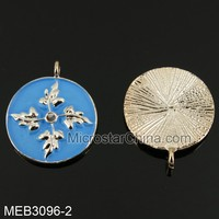 20mm Hot sale have stock mix color real four leaf clover pendant