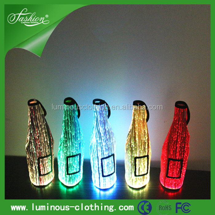 Simple And Handy, Custommade, Hexaon Glowing Wine Bottle Cooler Champane Bag As Wine Bottle Carrier
