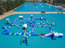 Commercial grade inflatable water park aqua park for water game