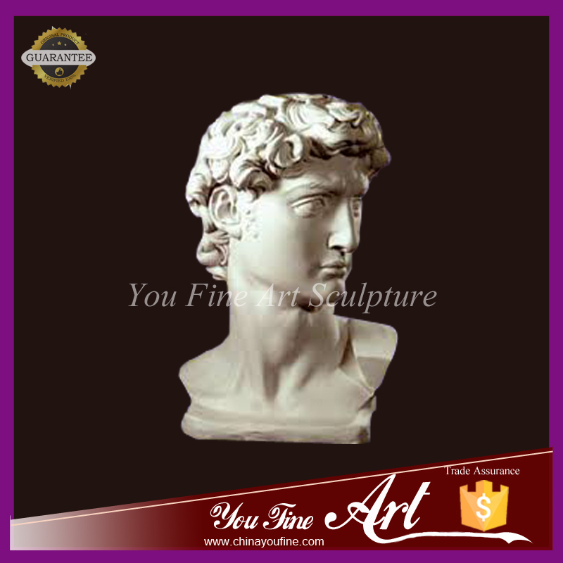 High Quality Hand Carved Marble David Head Bust