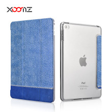 Fashion Splicing Shining PU Leather Flip Case for iPad Air 2