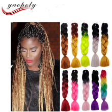 24'' 100g Two Colored Synthetic Hair Jumbo Braiding Expressions Hair For Braiding