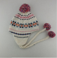 girls knitted winter free knit pattern for hat earflaps