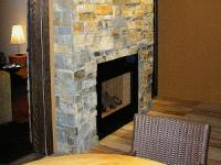 chimenea de piedra natural