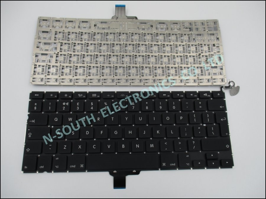 Genuine new laptop keyboard for apple macbook pro a1278 uk black