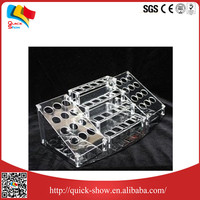 asia digital printed acrylic makeup organizer clear cube cosmetic