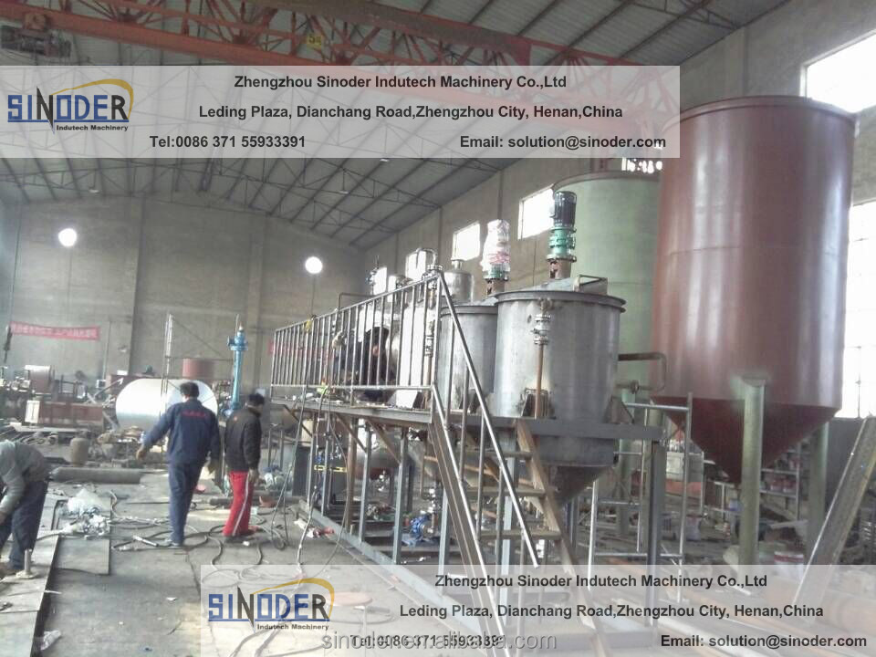 hot sales in Africa! 3T/D Palm crude oil refining machine edible oil refining machine sunflower oil refining machine