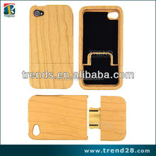 real natural cherry wood cell phone case for iphone 4