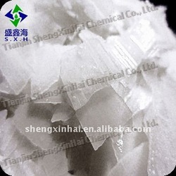 White translucent flake Industrial Grade caustic soda 96%
