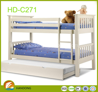 Lovely white Wooden bunk Bed for kids Strong wooden bunk bed bedroom furniture for kids Quality Choice