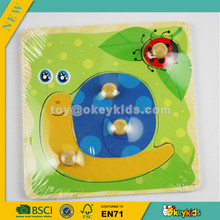 Wholesale top snails jigsaw toy,educational wooden kids snails jigsaw toy,best gift for kids wooden snails jigsaw toy W14A071