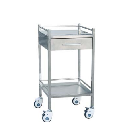 DW-CRC01 Medical stainless steel table trolley cart with wheels