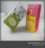 Brown kraft food packaging paper bags with window in huizhou guangdong