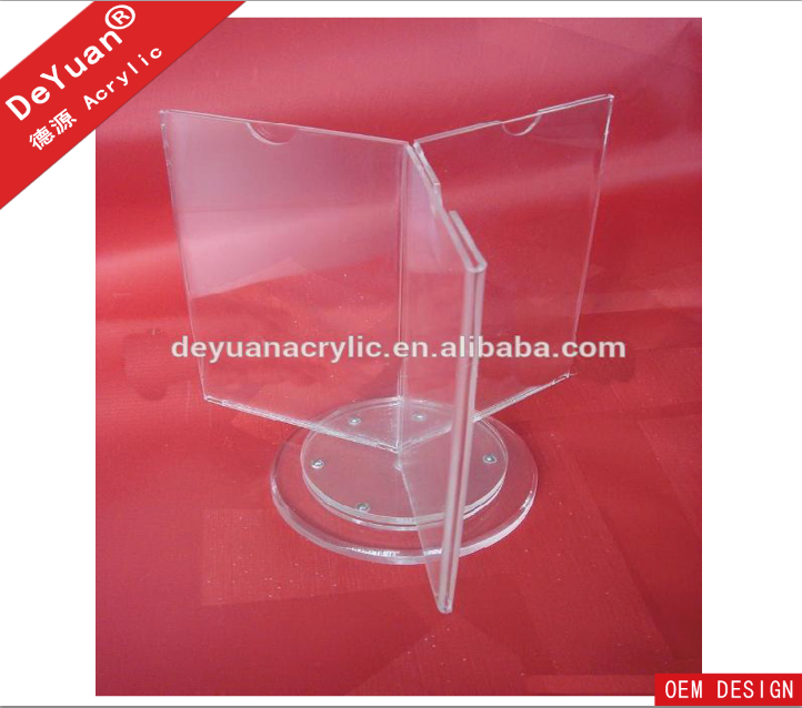 Rotate Triangle Acrylic Menu Holder