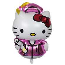 Big size Doctor hello kitty cartoon foil helium balloon for graduation party decoration