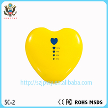 High capacity manual for IPHONE 6 love heart portable power bank 5200 mah CE&FCC&ROHS