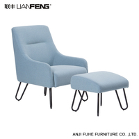 Modern Cotton Seat Durable Fabric Living