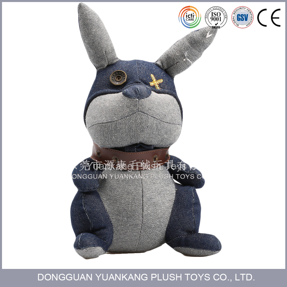 Lovely black bunny stuffed toy custom soft animal toys for promotional gift