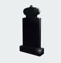 hot sale European style tombstone monument picture show produced by Shanxi balck granite on promotion