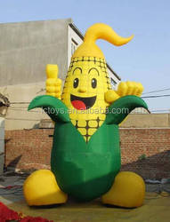 Custom funny inflatable corn fruits and vegetables modle for display