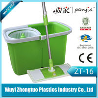 With bucket spin and go dryrotating mop microfiber dust spin and go dry rotation mop model ZT-16
