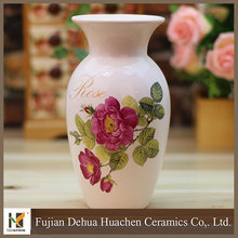 home decorative ceramic types of flower vase