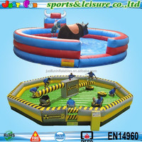 customized inflatable meltdown challenge games, price mechanical bull for sale