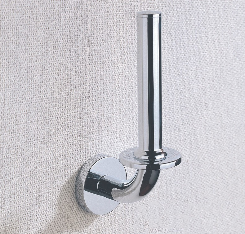 Stainless Steel Kitchen Toilet Paper Holders With Wall Mounted, Chrome Roll Holder With Bathroom Accessories