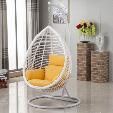 Modem rattan single seat egg shaped swing hanging chair for RH170A