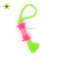 new promotion gifts discount/cheap TPR <strong>pet</strong> toys wholesale,TPR rubber bones with rope toys for dogs playing