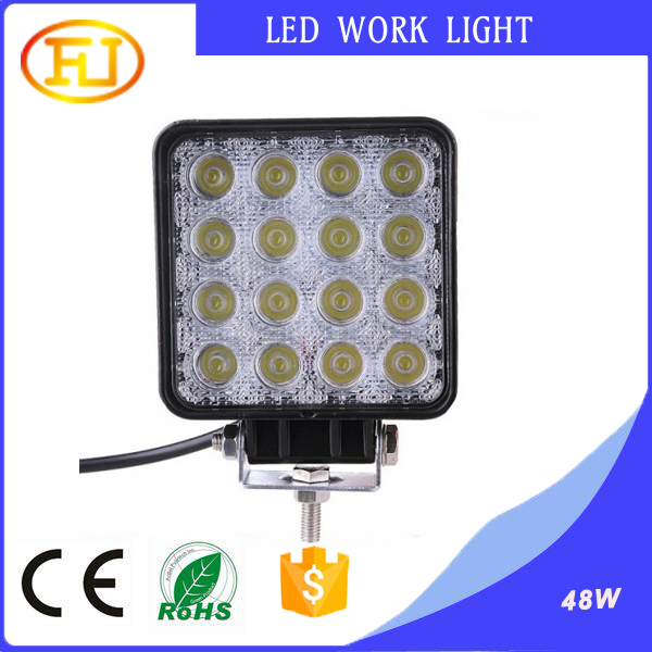 LED driving offroad light led boat lamp 4 x 4 ATV SUV flood/spot, 48w led work light