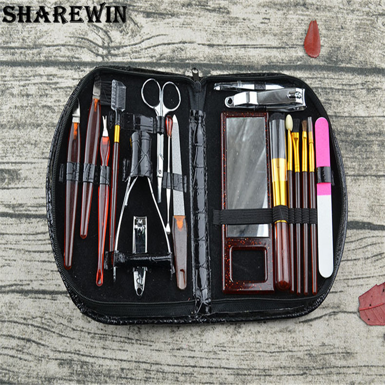 High Quality Professional Black Case Manicure Set Manicure and Pedicure Set For Personal Nail Care Manicure set