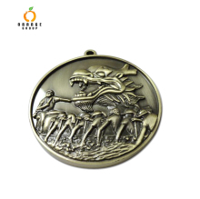 dragon boat medal metal badge custom key chain logo key chain