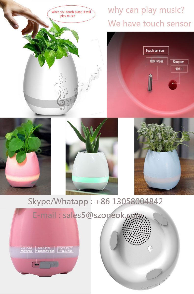 Hot sell Flowerpot mini speaker for mobile phone