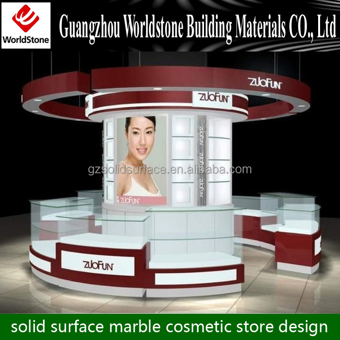 cosmetic display kiosk design / mall cosmetic display counter
